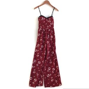 Band of Gypsies jumpsuit red floral